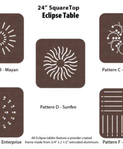 E-24SQPUNCH - 24 inch Square Table