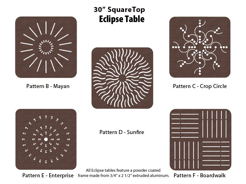 E-30SQPUNCH – 30 inch Square Table 1