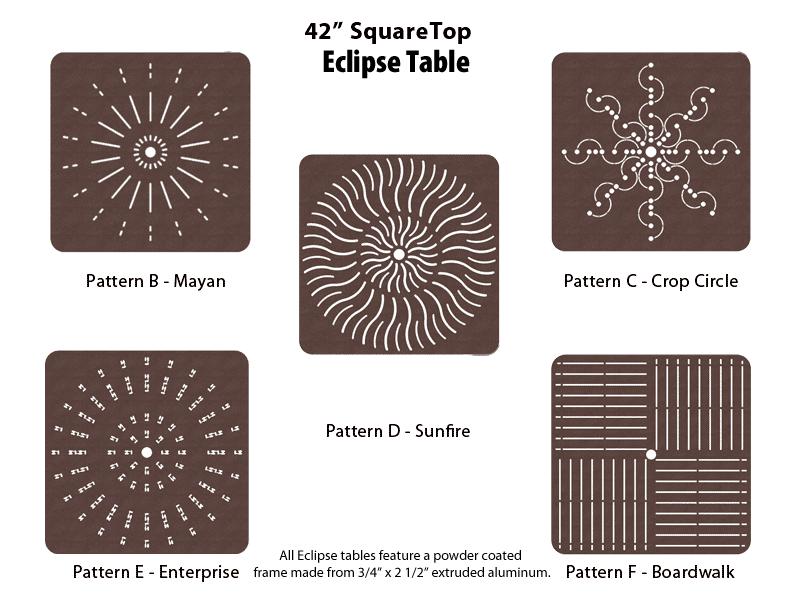 E-42SQPUNCH – 42 inch Square Table 1