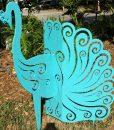Aluminum Peacock 2