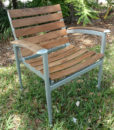 Natural Teak slat aluminum Chair