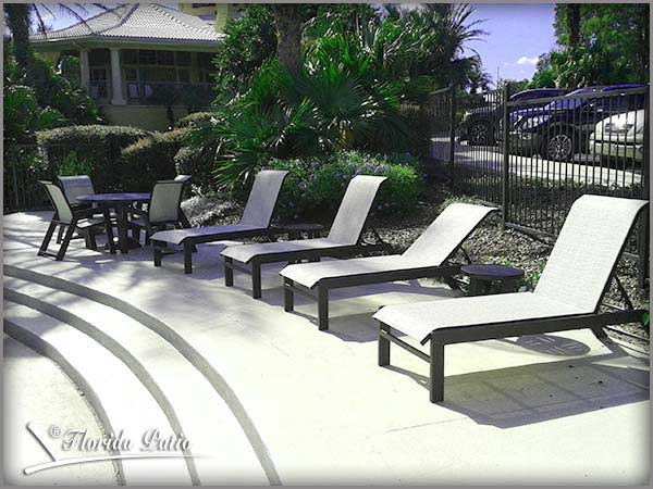 Florida Patio Sling Lounges