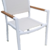 DA-49AC Balcony chair with faux teak arm caps