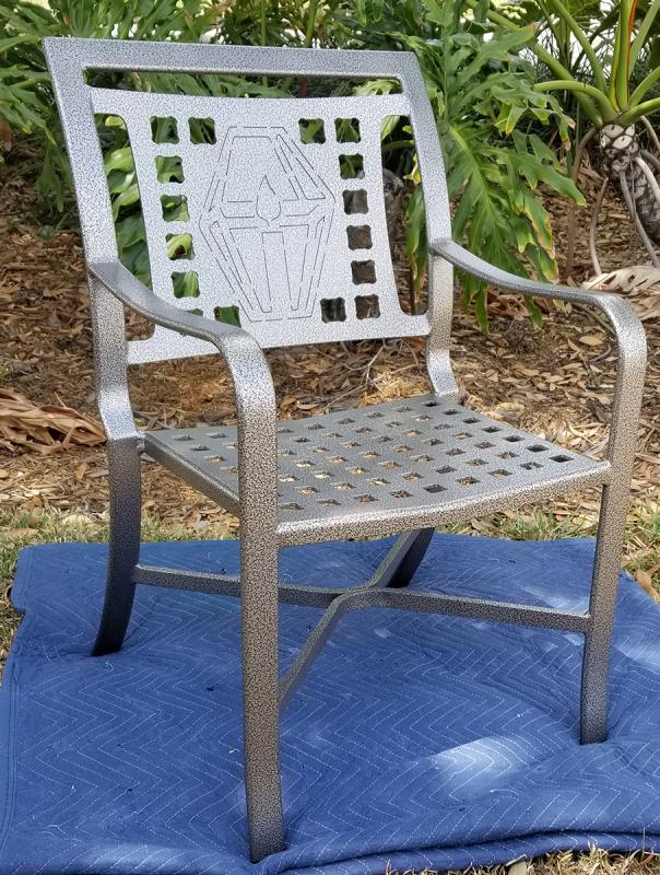 Custom Lantern Design Cast Chair