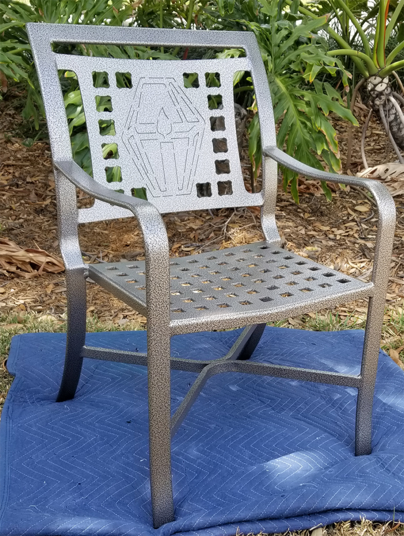 Custom Lantern Design Cast Chair