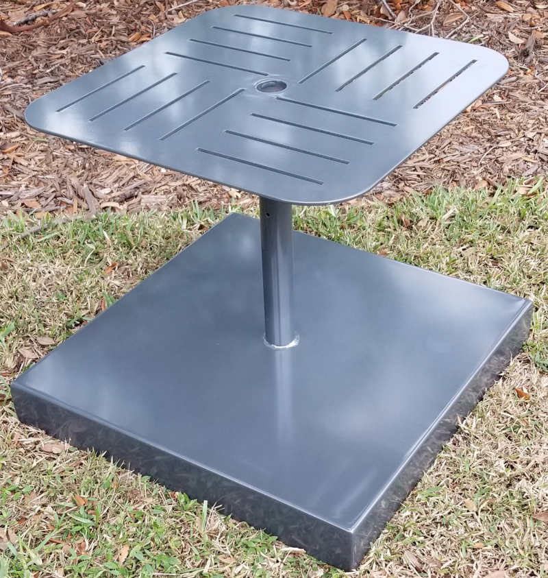 "U-CWPUNCHU, 95 - 125 lb. Cement Umbrella Base With 20"" X 20"" Square Punch Top & Hole"