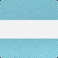 Turquoise & White Stripe