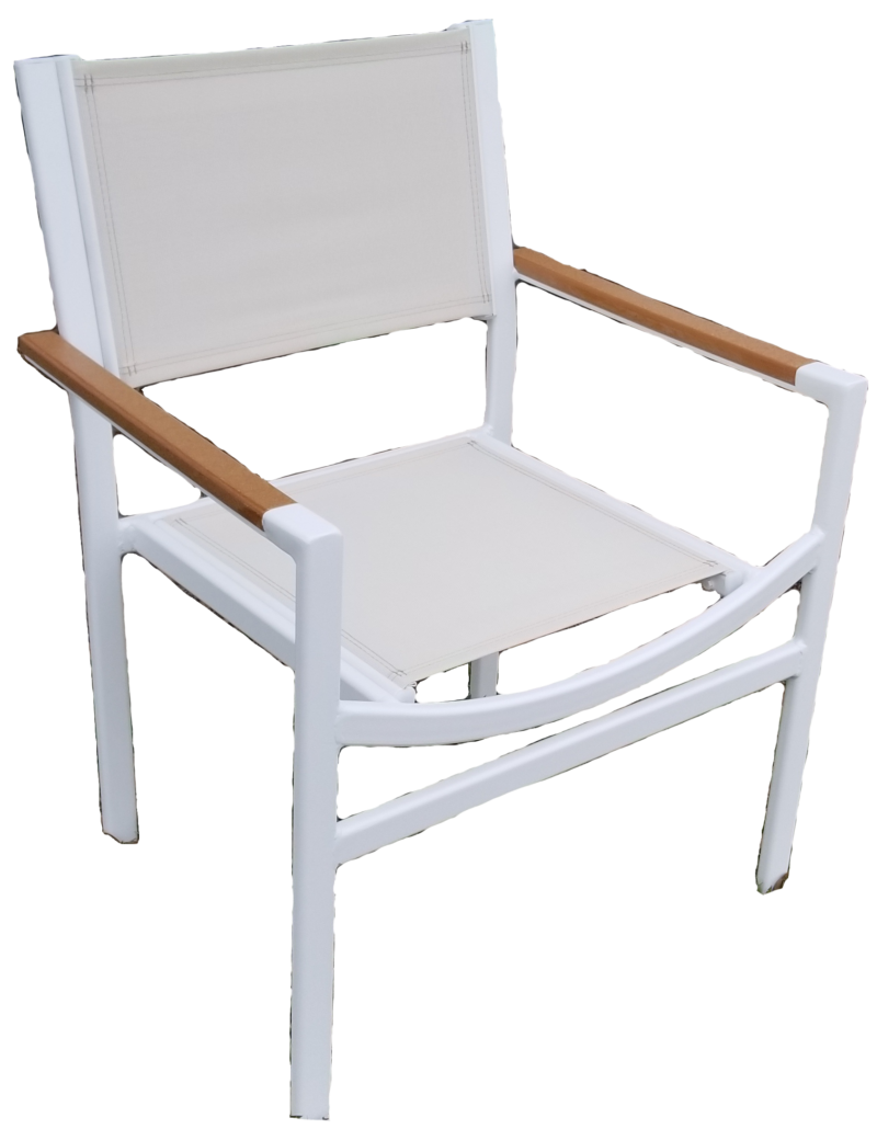 DA-50AC Dining chair with faux teak armcap