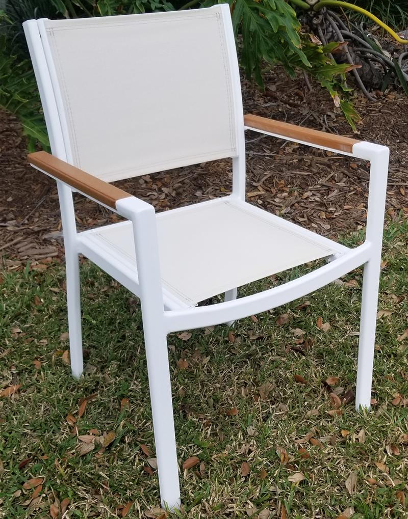 DA-49AC Balcony chair with faux teak arm caps