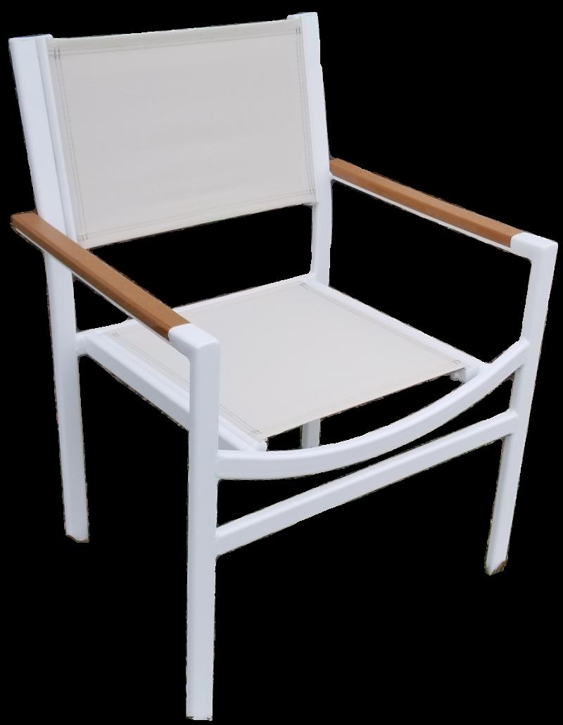 DA-50AC Dining chair with faux teak armcap