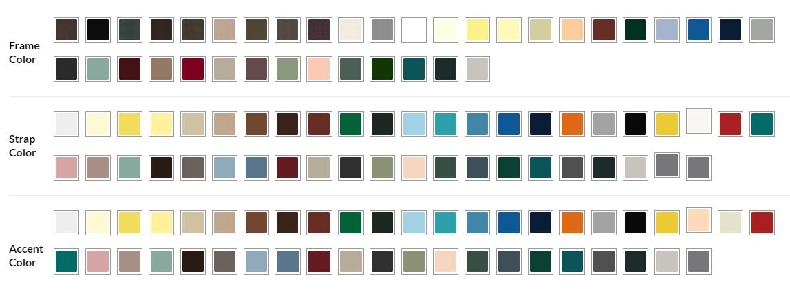 Strap Color Chart